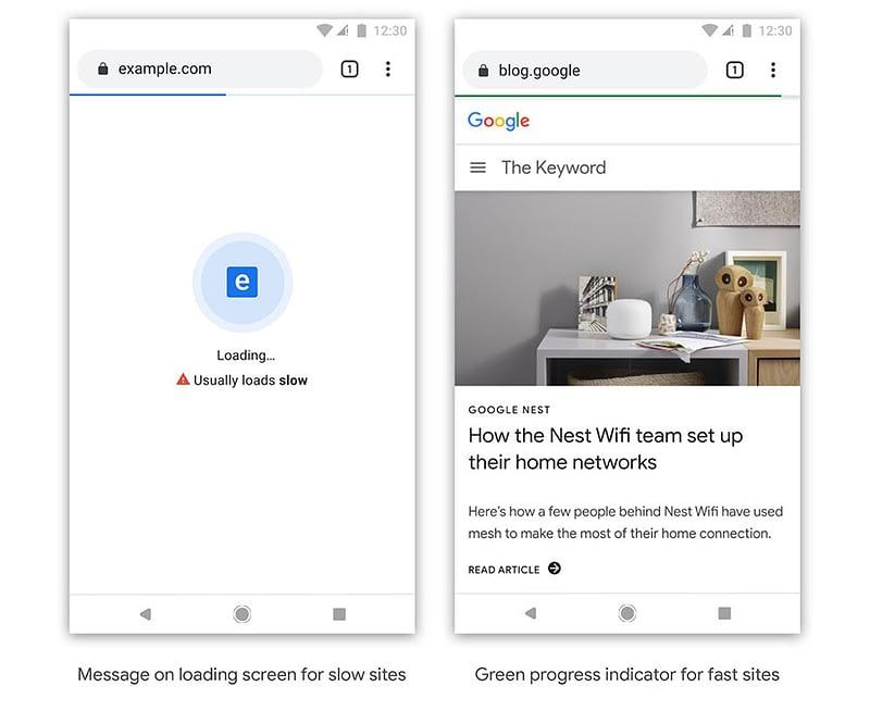 How Google Chrome may flag slow websites.