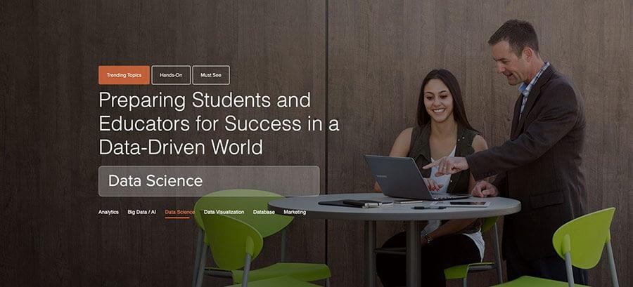 Image of the Teradata University Network homepage.