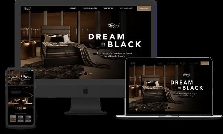 Beautyrest website mock ups