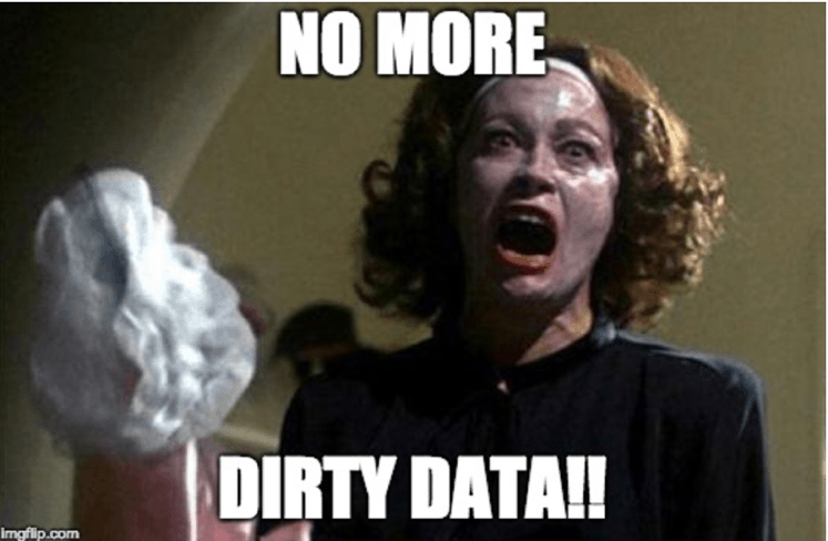 No more dirty data with an effective business analysis department.