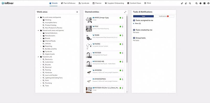 inriver Enrich Overview tab